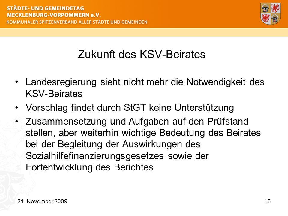 Zukunft des KSV-Beirates