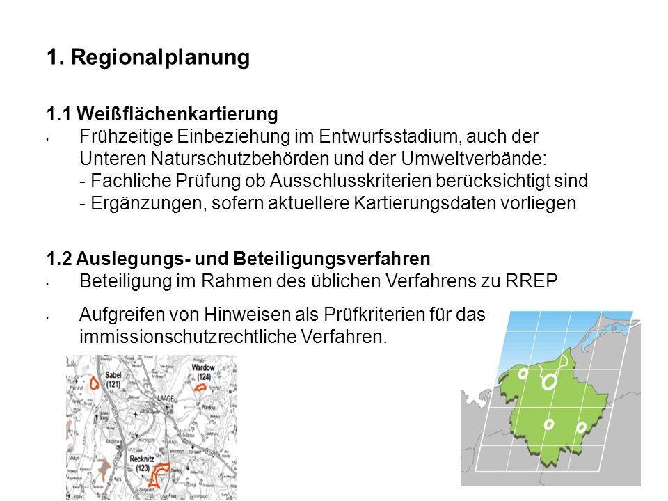 1. Regionalplanung 1.1 Weißflächenkartierung