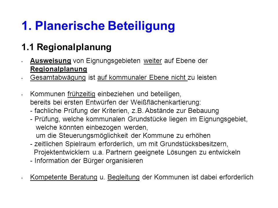 1. Planerische Beteiligung