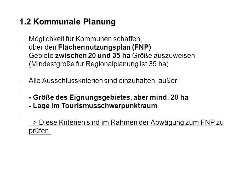 1.2 Kommunale Planung