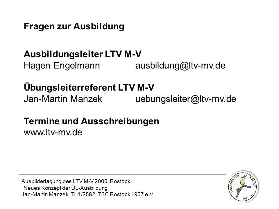 Ausbildungsleiter LTV M-V Hagen Engelmann ausbildung@ltv-mv.de
