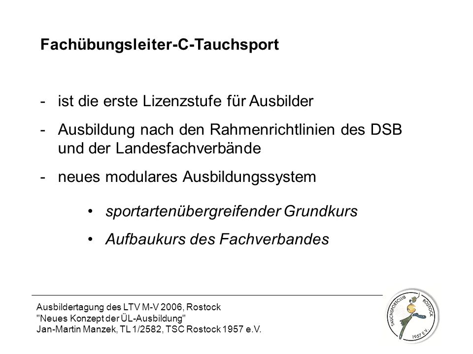 Fachübungsleiter-C-Tauchsport