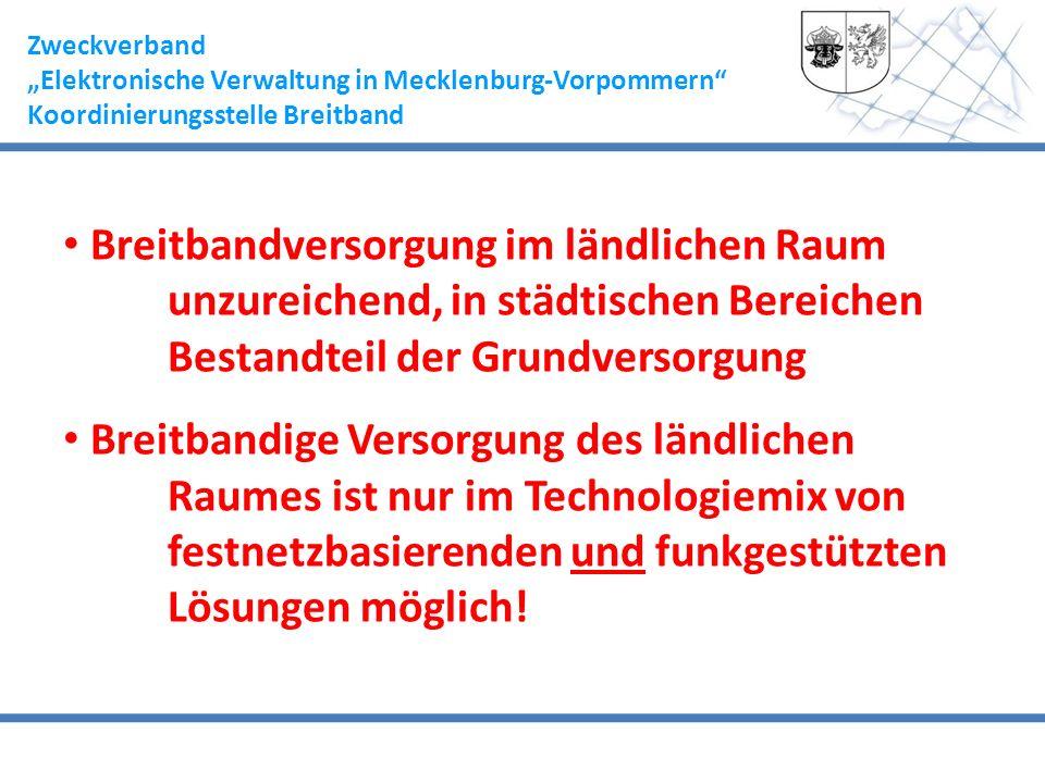 """Zweckverband """"Elektronische Verwaltung in Mecklenburg-Vorpommern Koordinierungsstelle Breitband."""