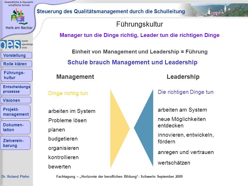 Führungskultur Schule brauch Management und Leadership