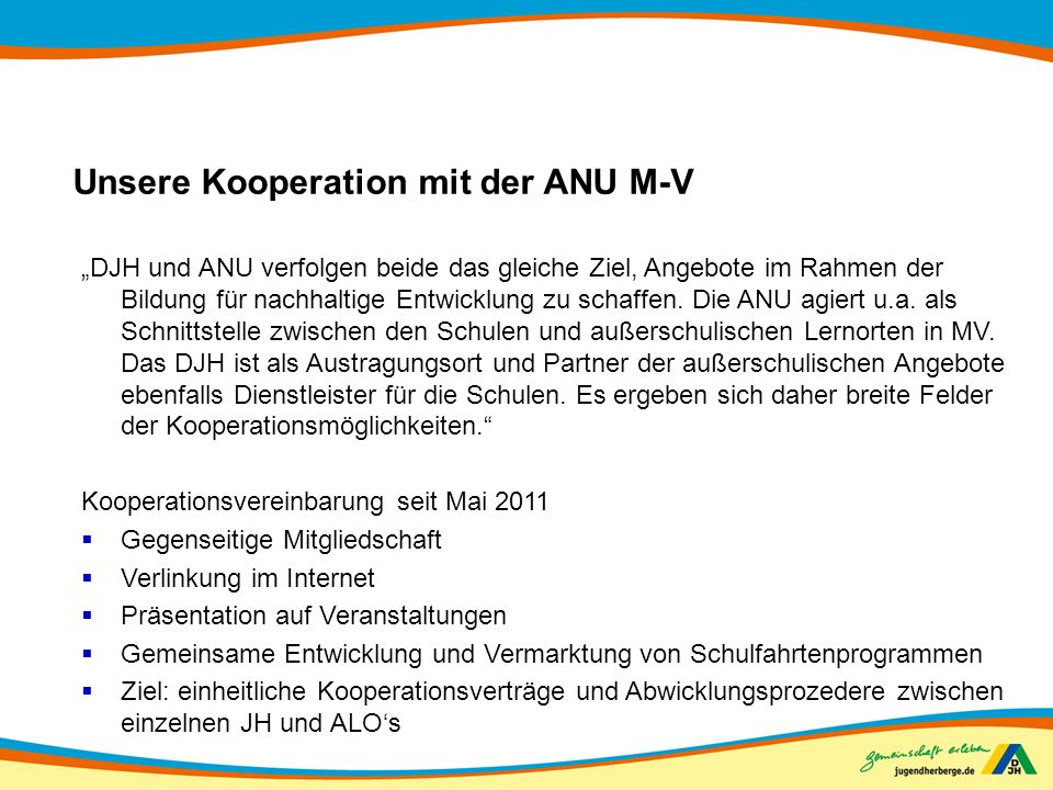 Unsere Kooperation mit der ANU M-V