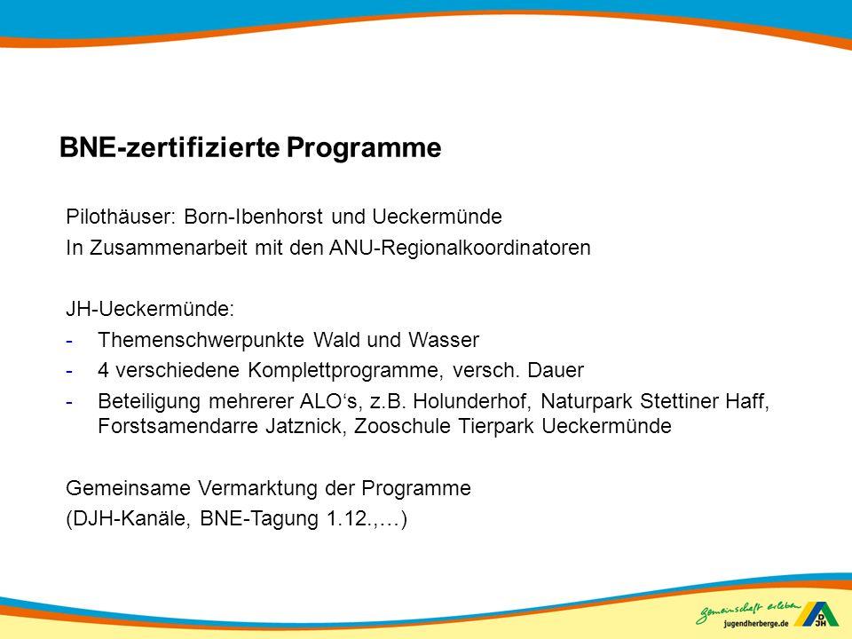 BNE-zertifizierte Programme