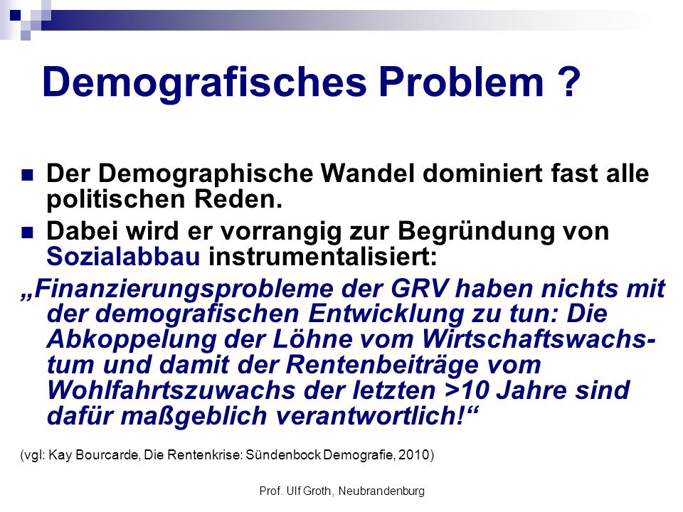 Demografisches Problem