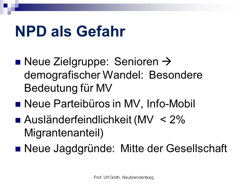 Prof. Ulf Groth, Neubrandenburg