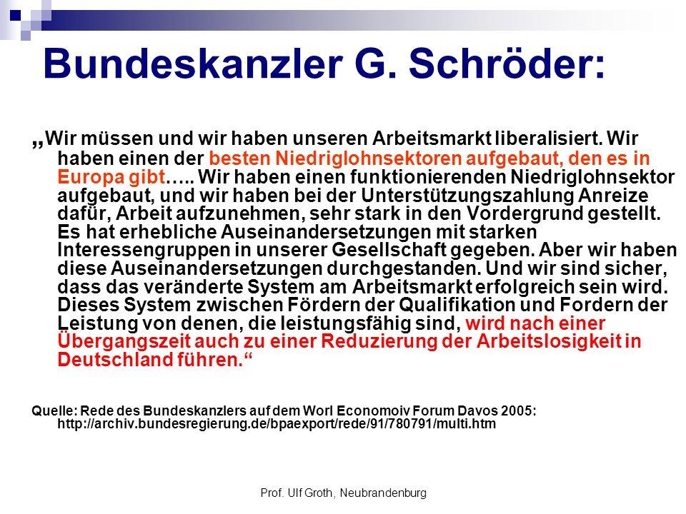 Bundeskanzler G. Schröder: