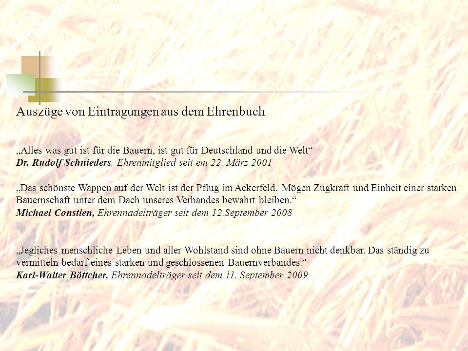 Auszüge von Eintragungen aus dem Ehrenbuch