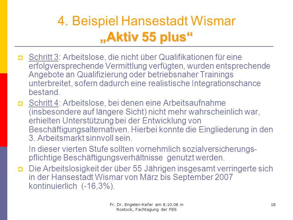 """4. Beispiel Hansestadt Wismar """"Aktiv 55 plus"""