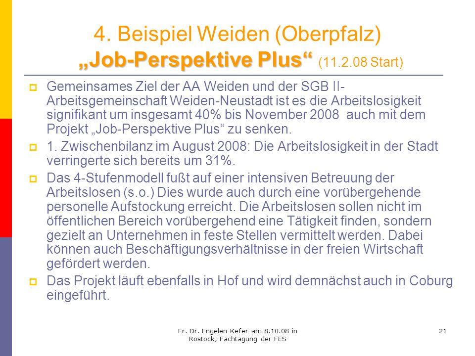 """4. Beispiel Weiden (Oberpfalz) """"Job-Perspektive Plus (11.2.08 Start)"""