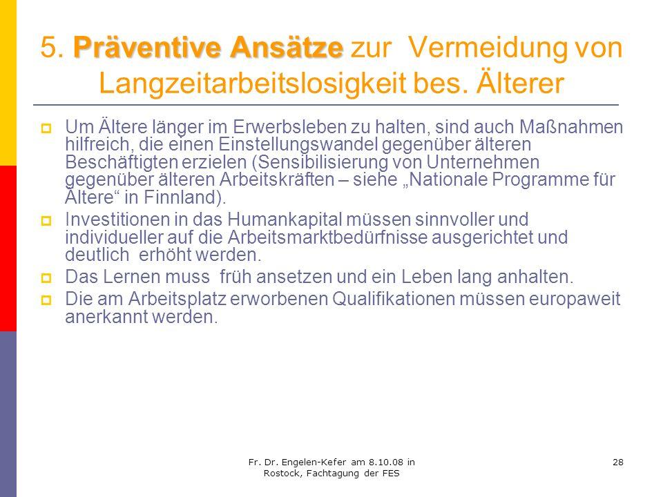 Fr. Dr. Engelen-Kefer am 8.10.08 in Rostock, Fachtagung der FES