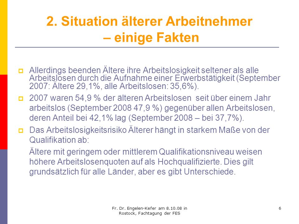 2. Situation älterer Arbeitnehmer – einige Fakten