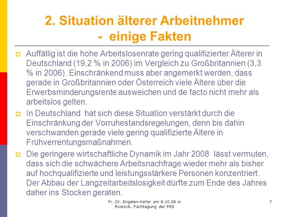 2. Situation älterer Arbeitnehmer - einige Fakten