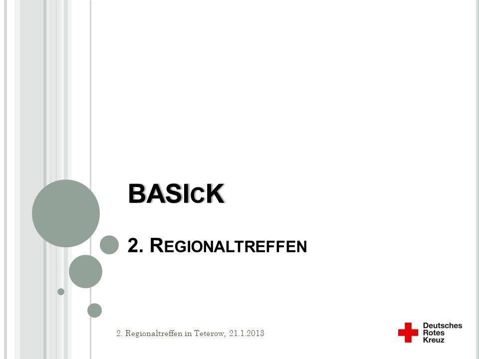 BASIcK 2. Regionaltreffen