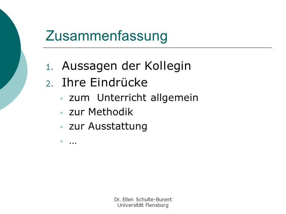 Dr. Ellen Schulte-Bunert Universität Flensburg