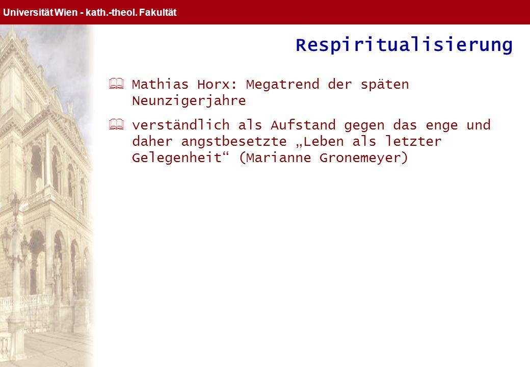 Respiritualisierung Mathias Horx: Megatrend der späten Neunzigerjahre