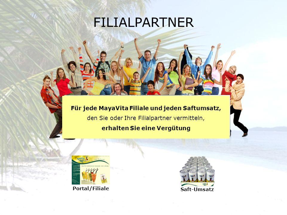 FILIALPARTNER Für jede MayaVita Filiale und jeden Saftumsatz,