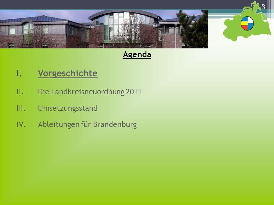 Vorgeschichte Agenda Die Landkreisneuordnung 2011 Umsetzungsstand