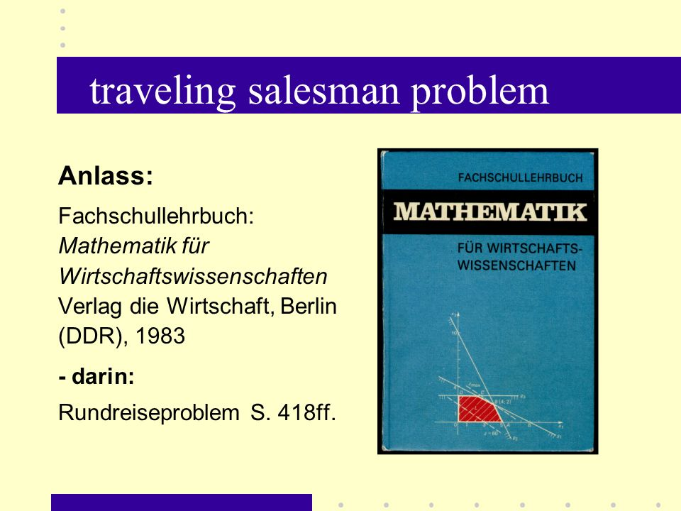 traveling salesman problem