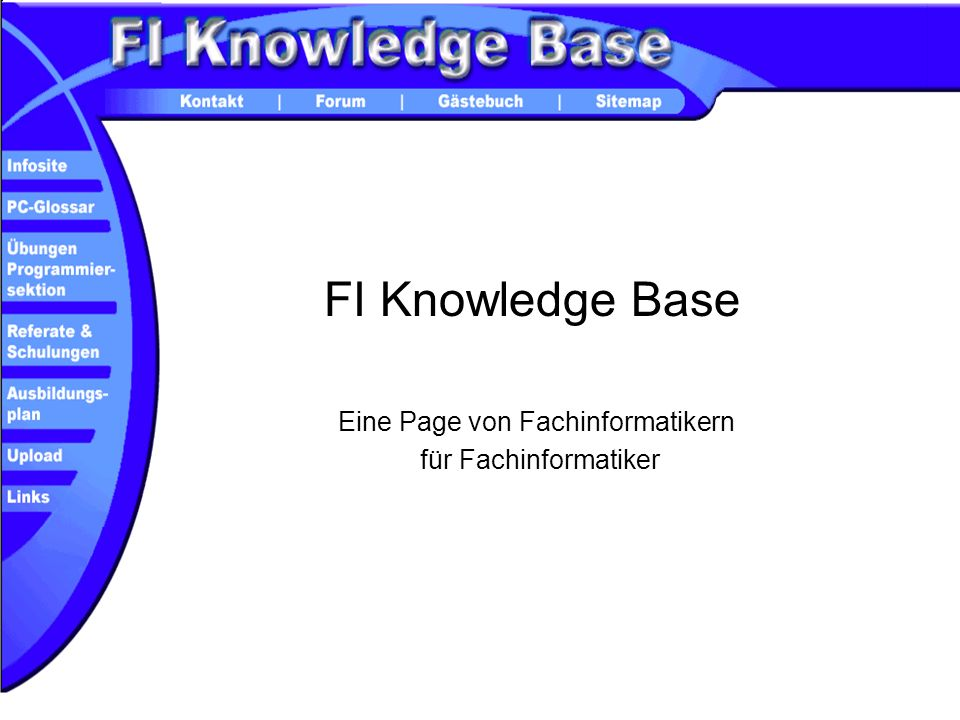 Eine Page von Fachinformatikern für Fachinformatiker