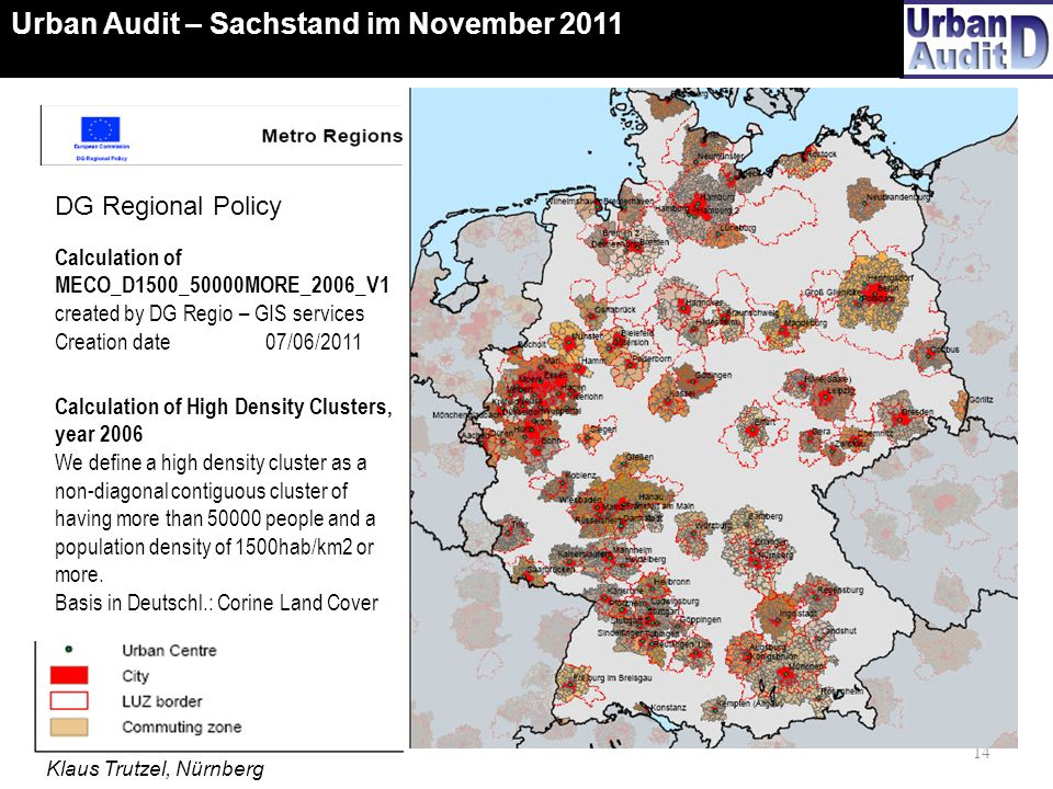 Urban Audit – Sachstand im November 2011