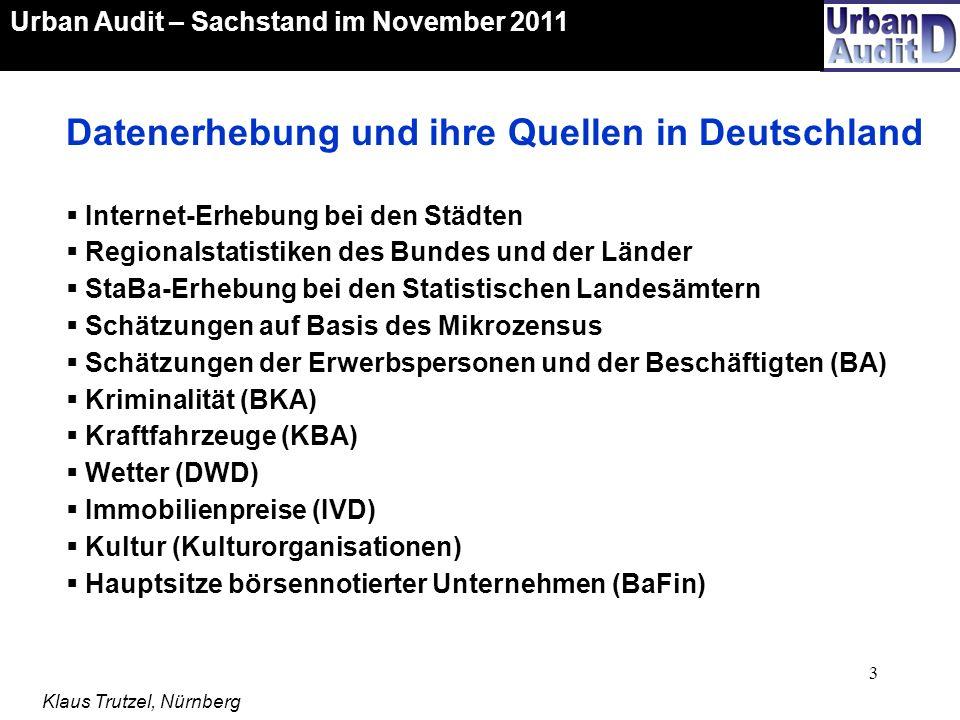 Datenerhebung und ihre Quellen in Deutschland
