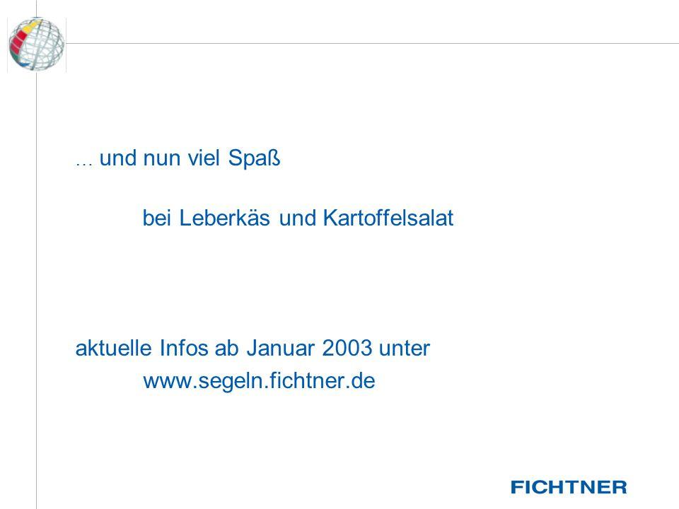aktuelle Infos ab Januar 2003 unter www.segeln.fichtner.de