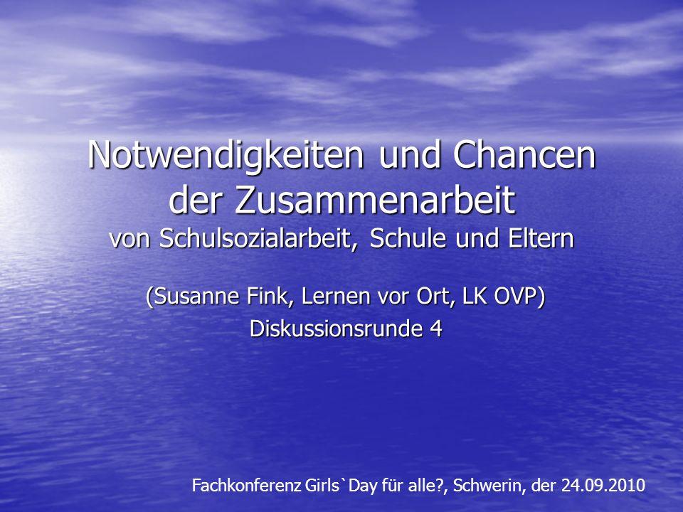 (Susanne Fink, Lernen vor Ort, LK OVP) Diskussionsrunde 4
