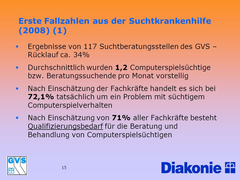 Erste Fallzahlen aus der Suchtkrankenhilfe (2008) (1)