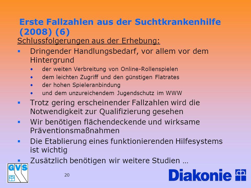 Erste Fallzahlen aus der Suchtkrankenhilfe (2008) (6)