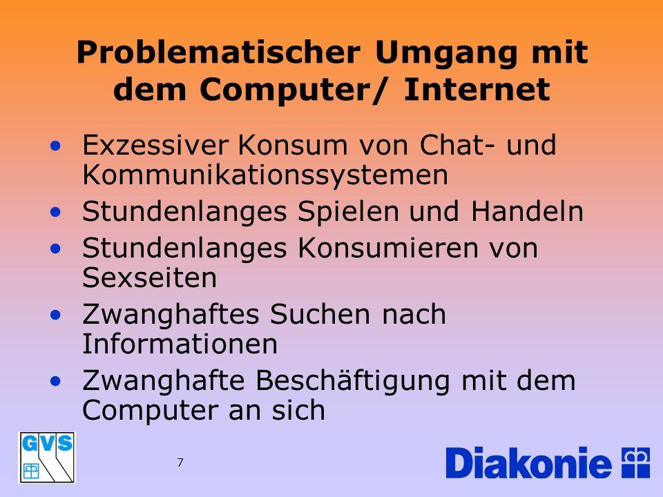 Problematischer Umgang mit dem Computer/ Internet