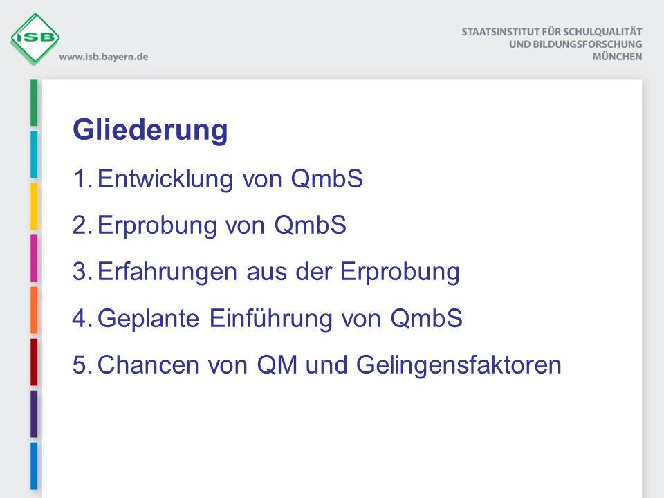 Gliederung Entwicklung von QmbS Erprobung von QmbS