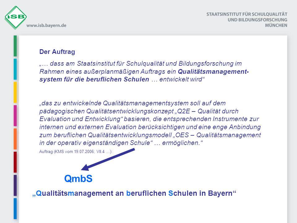 """""""Qualitätsmanagement an beruflichen Schulen in Bayern"""