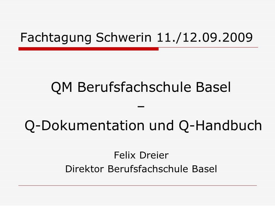 QM Berufsfachschule Basel – Q-Dokumentation und Q-Handbuch