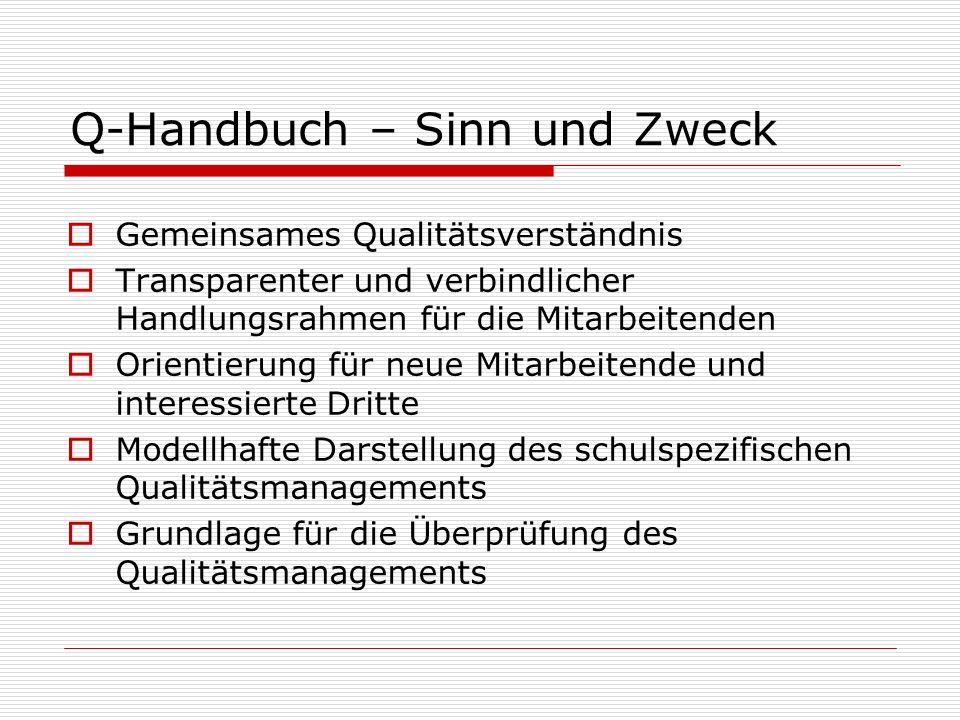 Q-Handbuch – Sinn und Zweck
