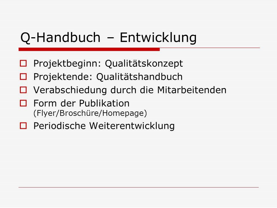 Q-Handbuch – Entwicklung