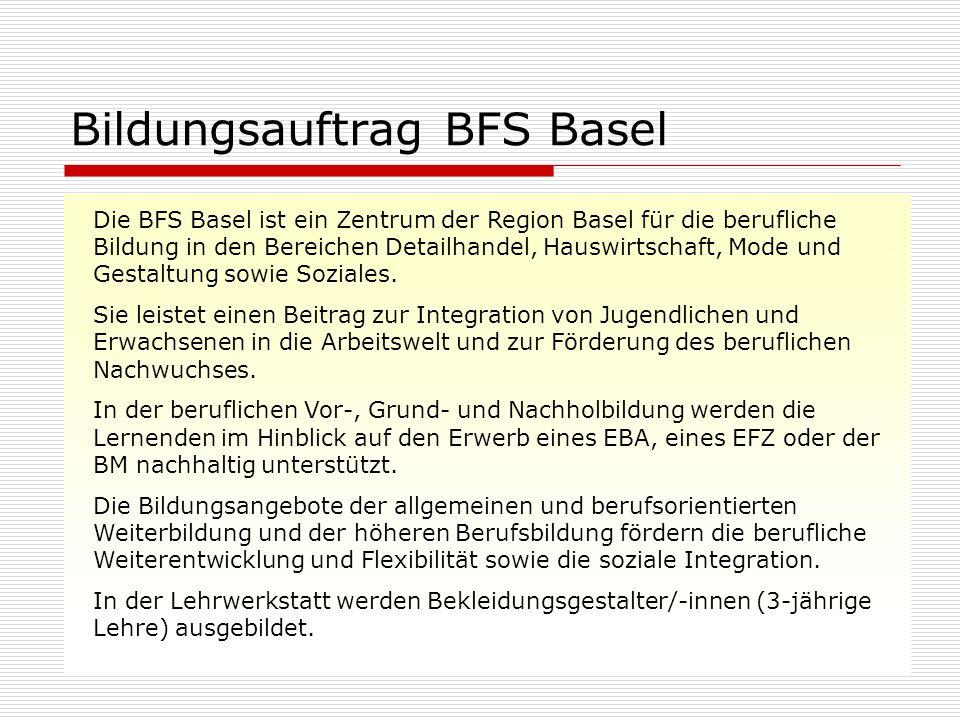 Bildungsauftrag BFS Basel