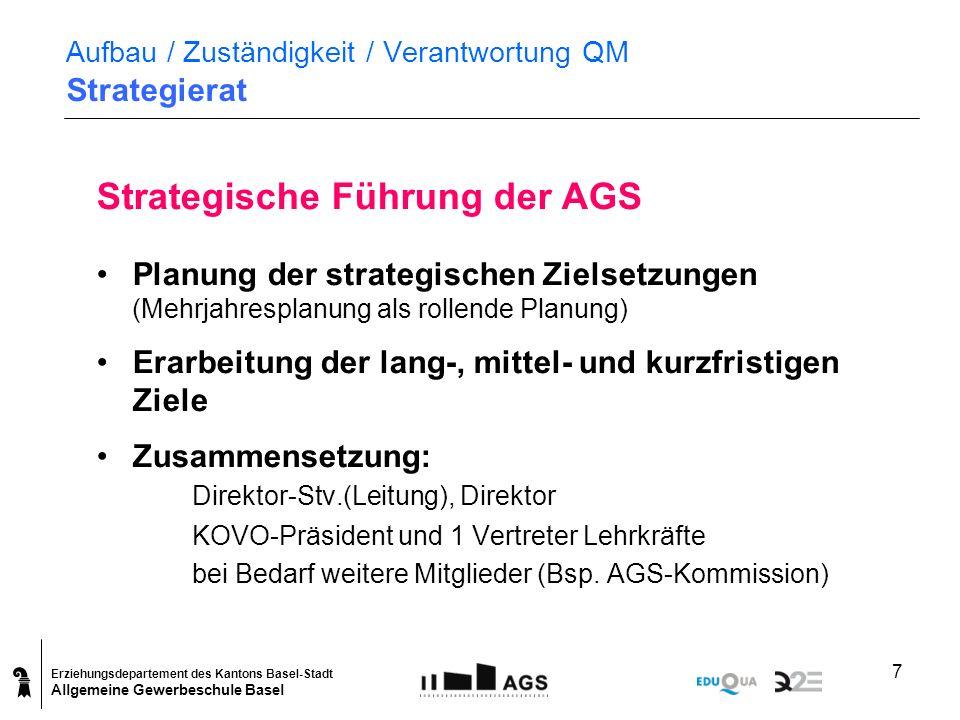 Aufbau / Zuständigkeit / Verantwortung QM Strategierat