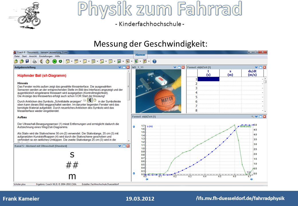 Messung der Geschwindigkeit:
