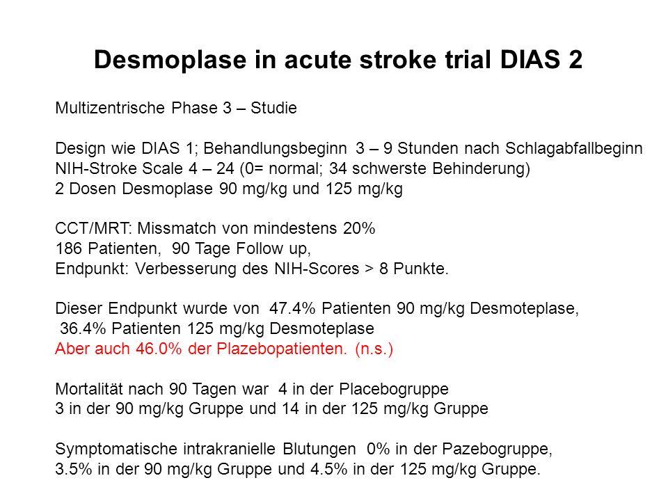 Desmoplase in acute stroke trial DIAS 2