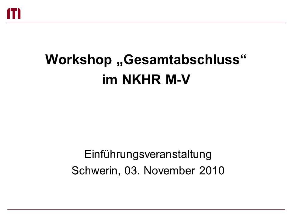 """Workshop """"Gesamtabschluss im NKHR M-V"""