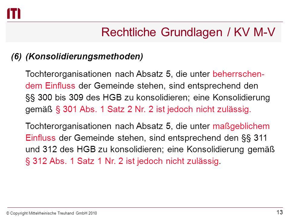 Rechtliche Grundlagen / KV M-V