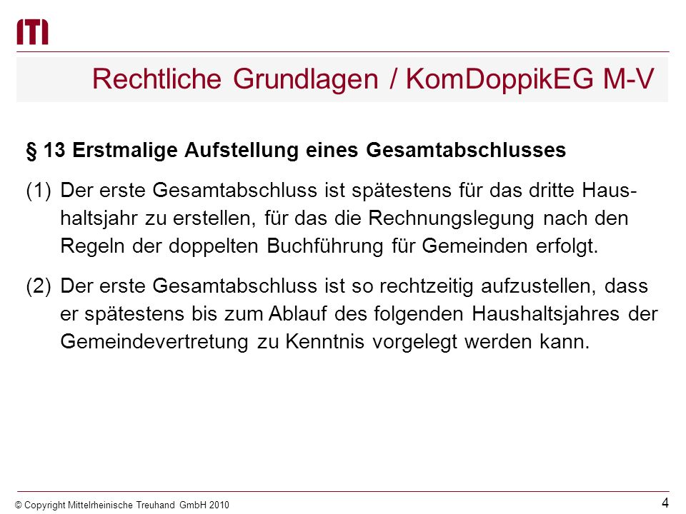 Rechtliche Grundlagen / KomDoppikEG M-V