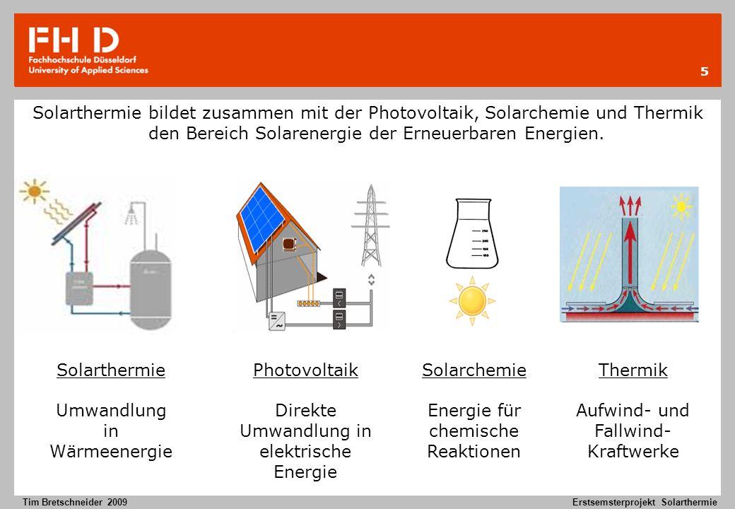 Umwandlung in Wärmeenergie Photovoltaik