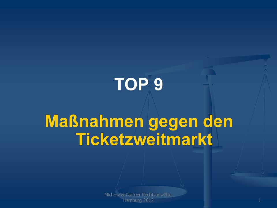 Maßnahmen gegen den Ticketzweitmarkt