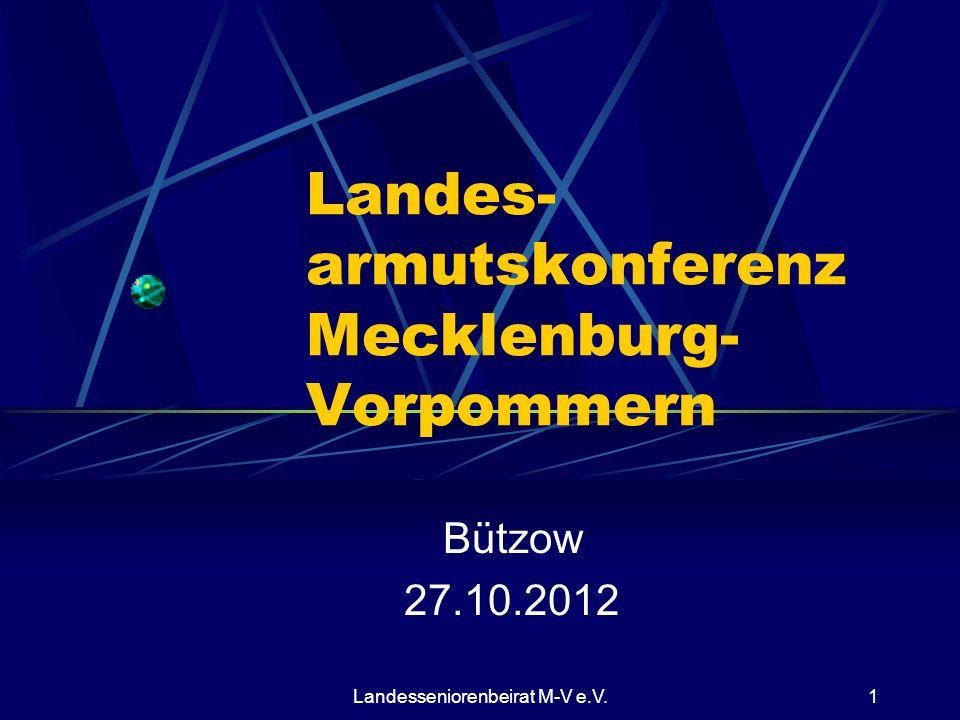 Landes- armutskonferenz Mecklenburg- Vorpommern