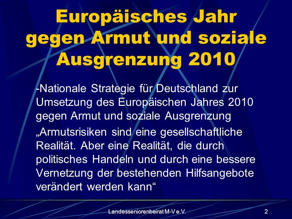 Europäisches Jahr gegen Armut und soziale Ausgrenzung 2010