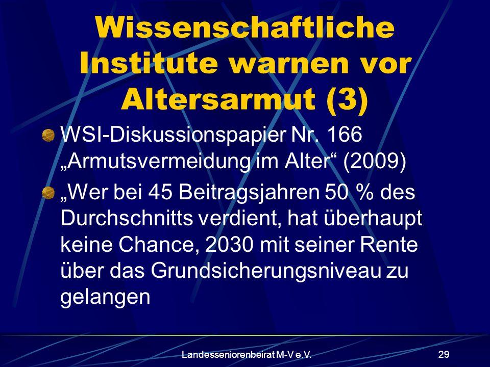 Wissenschaftliche Institute warnen vor Altersarmut (3)
